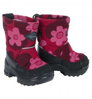 Ботинки  Putkivarsi Wool Bordeaux Flower, цвет: бордовый Kuoma