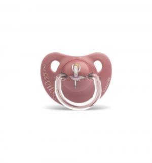 Набор пустышек  Балерина/Слон силикон, с 18 мес, цвет: розовый Suavinex