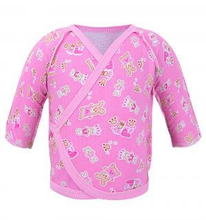 Распашонка , цвет: розовый Три медведя