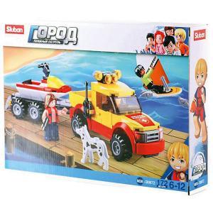 Конструктор  Пляжные спасатели: Внедорожник-буксир и аквабайк, 172 детали Sluban. Цвет: разноцветный