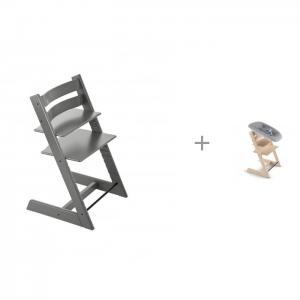 Стульчик для кормления  Tripp Trapp и сиденье Newborn Set новорожденного Stokke
