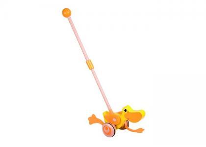 Каталка-игрушка  Деревянная трещотка Уточка Classic World