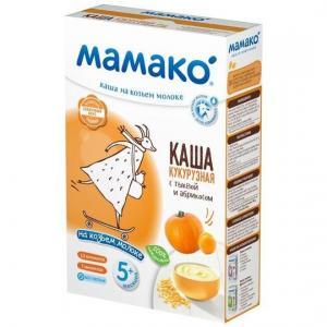 Каша  молочная кукурузная с тыквой и абрикосом на козьем молоке 5 месяцев 200 г Мамако