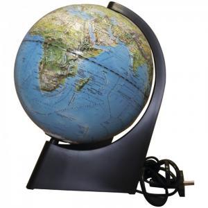 Глобус физико-политический рельефный 21 см с подсветкой Глобусный мир