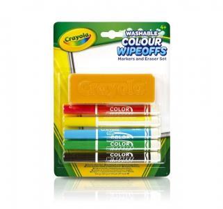 Набор фломастеров  с губкой 5 цв. Crayola