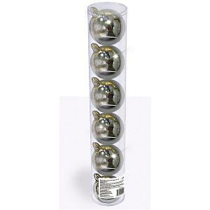 Набор елочных шаров  6 шт, см., серебряные B&H. Цвет: разноцветный