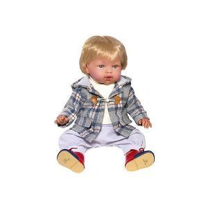 Кукла-пупс  Тонино - городской модник в пальто, 42 см Vestida de Azul. Цвет: разноцветный