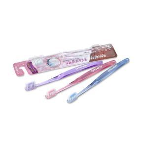 Зубная щетка  Crystal Compact для слабых десен, цвет: голубой Lion