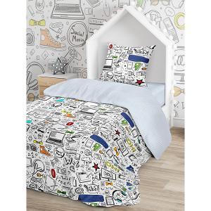 Комплект постельного белья  Скетч, 1,5-спальное Juno. Цвет: разноцветный