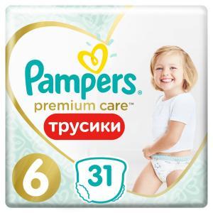 Трусики-подгузники  Premium Care Pants, р. 6, 15+ кг, 31 шт Pampers