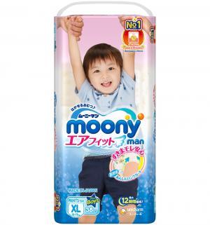 Подгузники-трусики  XL для мальчиков (12-17 кг) 38 шт. Moony