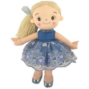 Мягкая кукла  Балерина в голубом платье, 30 см ABtoys. Цвет: голубой