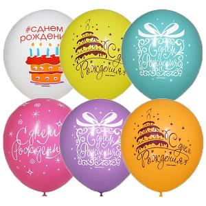Воздушные шары  Букет шаров День Рождения 25 шт, пастель + декоратор Latex Occidental. Цвет: разноцветный