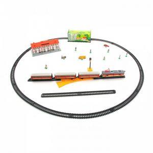 Железная дорога 4,4м круг 1 локомотив 3 вагона тоннель светофор стрелка перевода 516 Pequetren