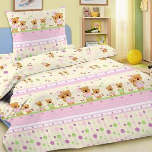 Детское постельное белье 3 предмета , BG-14 Letto. Цвет: розовый