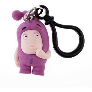 Брелок фигурка-чудик  Ньют, 3 см Oddbods. Цвет: розовый
