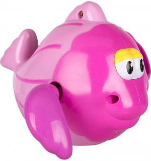 Игрушка  Рыбка заводной механизм цвет: розовый, 12 см Игруша