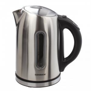 Чайник KT-1740 нержавеющая сталь с терморегулятором 1.7 л Sonnen