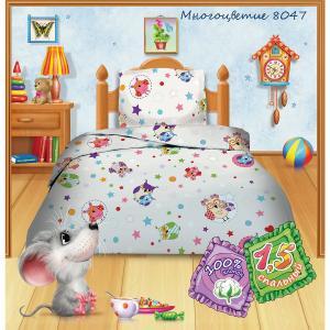 Детское постельное белье 3 предмета , Многоцветие Кошки-мышки