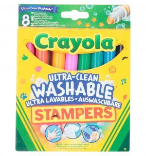 Фломастеры  набор мини-штампов Животные 8 шт. Crayola