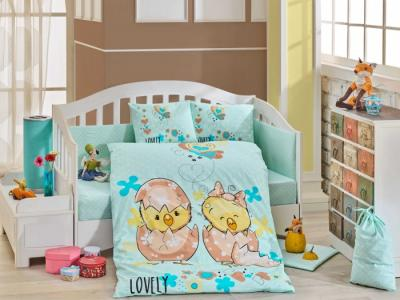 Комплект в кроватку  Lovely 100х150 см (10 предметов) Hobby Home Collection
