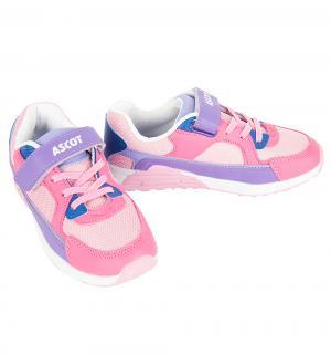 Кроссовки  Maxim, цвет: сиреневый/розовый Ascot