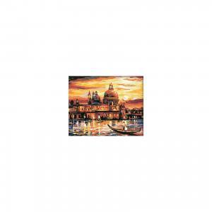 Холст с красками по номерам Вечерняя Венеция 40х50 см Издательство Рыжий кот