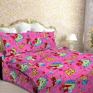 Детское постельное белье 3 предмета , BG-92 Letto. Цвет: розовый