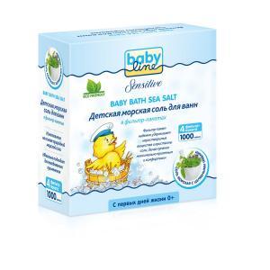 Соль Babyline с целебными травами, рождения, 1000 г Baby Line