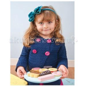 Деревянная игрушка  Игрушечная еда Тарелка с печеньем LeToyVan