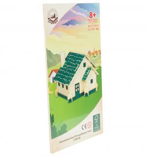 Сборная деревянная модель  Европейский дом (зеленый) Wooden Toys