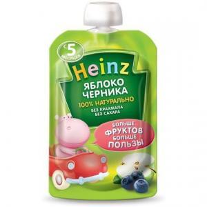 Пюре  яблоко-черника с 5 месяцев, 100 г Heinz