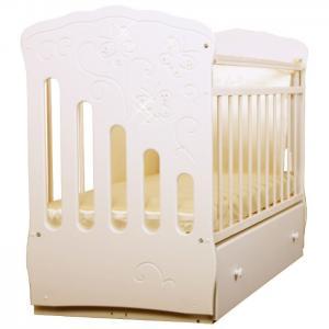 Детская кроватка  Бабочки маятник поперечный Островок уюта