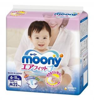 Подгузники  р. M (6-11 кг) 22 шт. Moony