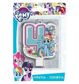 Свеча-цифра  №4 4 см My Little Pony
