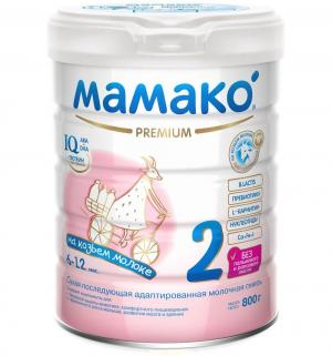 Молочная смесь  Premium на основе козьего молока 6-12 месяцев, 800 г Мамако