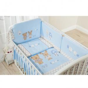 Комплект постельного белья  Венеция, цвет: голубой 3 предмета Perina