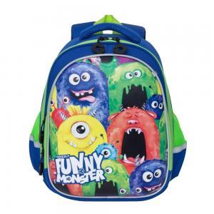 Рюкзак школьный  синий Grizzly