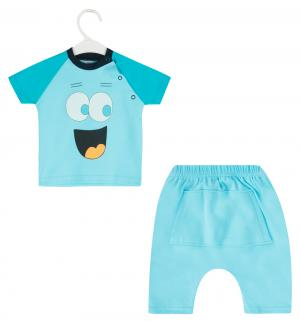 Комплект футболка/шорты  Smile, цвет: голубой Aga