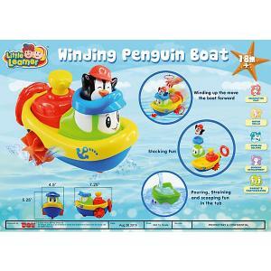Заводная игрушка для ванны  Кораблик - Пингвин HAP-P-KID