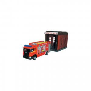 Машинка Scania пожарная с гаражом 1:48, Autotime