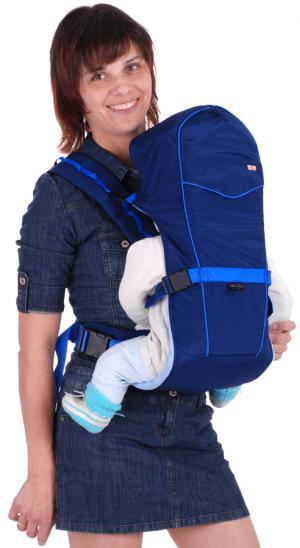 Рюкзак-кенгуру Чудо-Чадо BabyActive Simple Рюкзак-кенгуру, цвет: синий