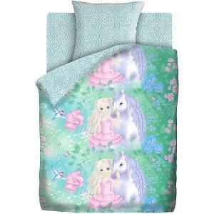Комплект постельного белья  Сказочный лес, 1,5-спальное Juno. Цвет: разноцветный