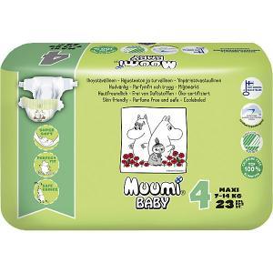 Подгузники  Maxi 7-14 кг, 23 штуки Muumi