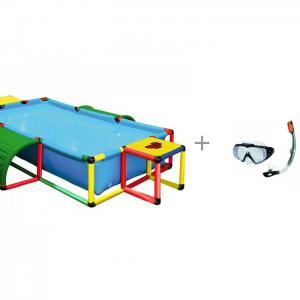 Бассейн  Pool XXL и маска трубка аква Intex Quadro