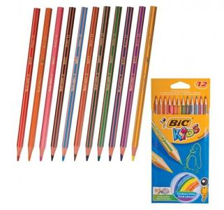 Карандаши цветные  Тропикулер 2 12 цв. пластик. Bic