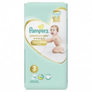 Подгузники-трусики Premium Care Pants р.3 (6-11 кг) 48 шт. Pampers
