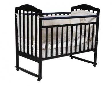Детская кроватка  Helen 1 колесо качалка Кедр