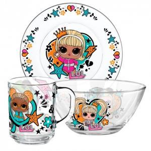 ND Play Набор посуды из стекла L.O.L. Surprise WhatUni (3 предмета)