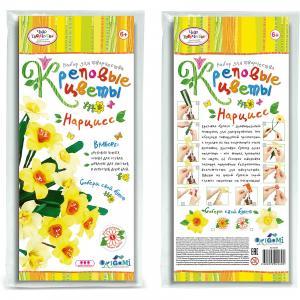 Креповые цветы своими руками Нарцисc 2 цвета Чудо-Творчество